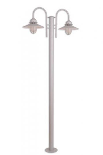 POMERANIA LO3 2,25m Lampa Ogrodowa srebro