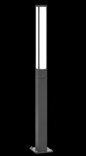 FRYZJA LO 1,6m Lampa Ogrodowa szara