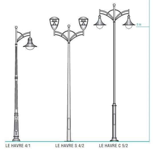 LE HAVRE latarnia rodzaje