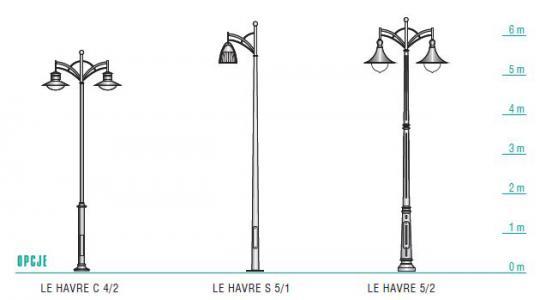 LE HAVRE latarnia wymiary