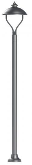 WARMIA LO K 2,2m Lampa Ogrodowa grafit