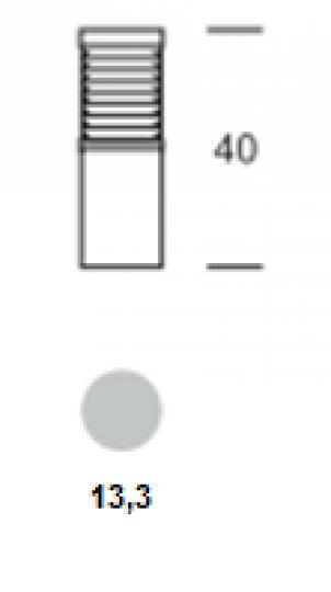 BOLARD LO 0,4m Lampa Ogrodowa wymiary