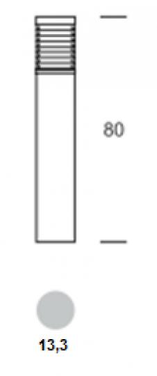 BOLARD LO 0,8m Lampa Ogrodowa wymiary