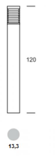 BOLARD LO 1,2m Lampa Ogrodowa wymiary