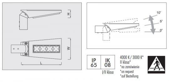 KROKO LED Oprawa wymiary