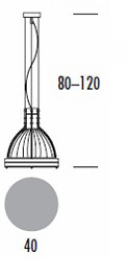 BETA LS-M Lampa Sufitowa wymiary