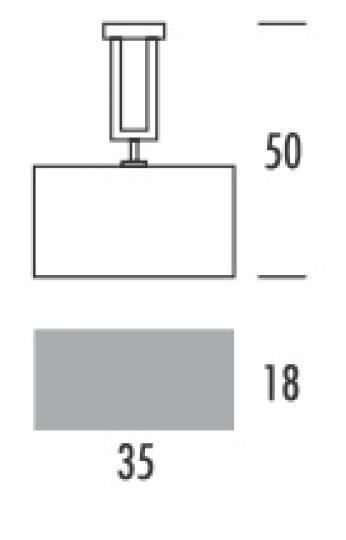 ALASKA LS-S Lampa Sufitowa wymiary