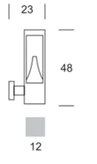 BOKARD LED KD Kinkiet Ogrodowy wymiary