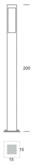 BOKARD LO 2m Lampa Ogrodowa wymiary