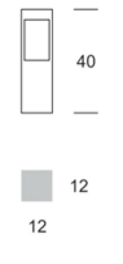 BOKARD LO 0,4m Lampa Ogrodowa wymiary