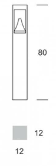 BOKARD LED LO 0,8m Lampa Ogrodowa wymiary