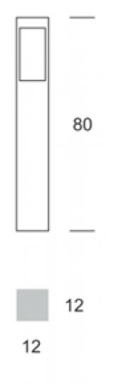 BOKARD LO 0,8m Lampa Ogrodowa wymiary