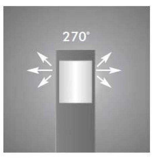 BOKARD LO 0,8m Lampa Ogrodowa kąt świecenia