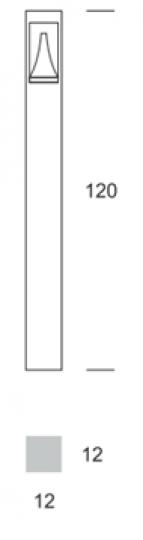BOKARD LED LO 1,2m Lampa Ogrodowa wymiary