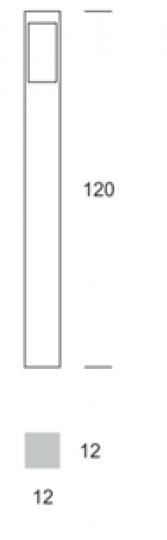 BOKARD LO 1,2m Lampa Ogrodowa wymiary