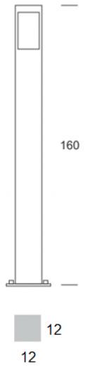 BOKARD LO 1,6m Lampa Ogrodowa wymiary