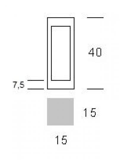 BOVER LED LO 0,4m Lampa Ogrodowa wymiary