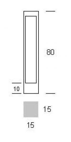 BOVER LED LO 0,8m Lampa Ogrodowa wymiary