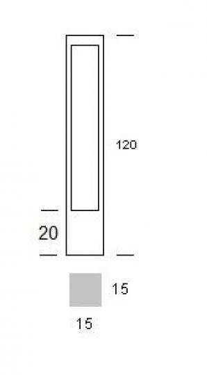 BOVER LED LO 1,2m Lampa Ogrodowa wymiary