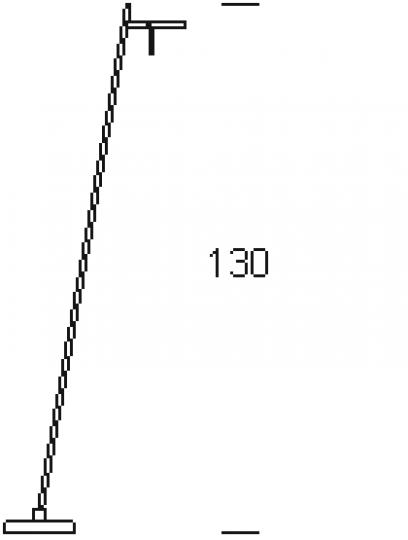 CRIS LP R Lampa Podłogowa wymiary