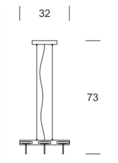 CRIS Ż6 R Żyrandol wymiary