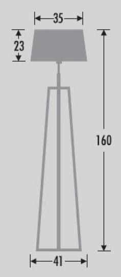 CROSS LP Lampa Podłogowa wymiary