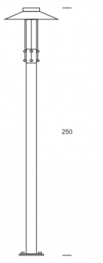 GAMMA BIS LED LP 2,5m wymiary