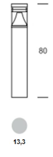 BOLARD LED LO 0,8m Lampa Ogrodowa wymiary