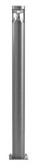 BOLARD LED LO 1,6m Lampa Ogrodowa szara