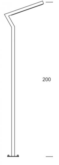 KADET LED LO 2m Lampa Ogrodowa wymiary