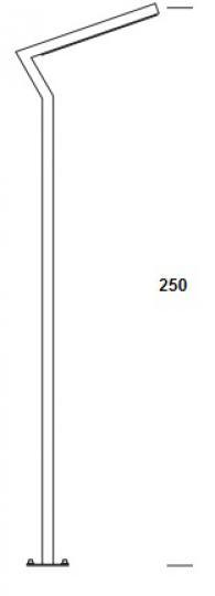 KADET LED LO 2,5m Lampa Ogrodowa wymiary