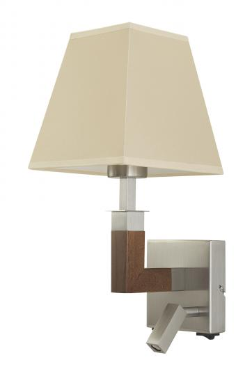 KLARA K LED LILU Kinkiet inox brąz, lampa z abażurem, nowoczesny kinkiet, ElmarCo POLSKI producent oświetlenia elmarco_pl