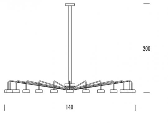 MISTRAL Ż18 DOWN Żyrandol wymiary