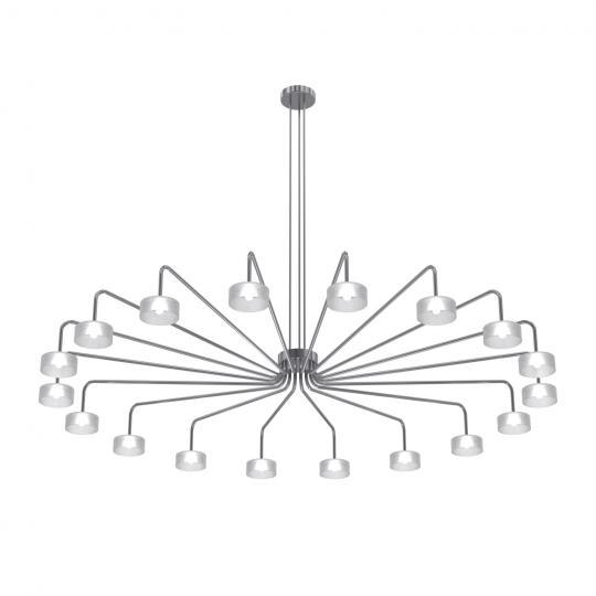 MISTRAL Ż18 DOWN Żyrandol inox