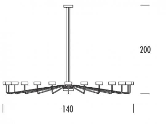 MISTRAL Ż18 UP Żyrandol wymiary