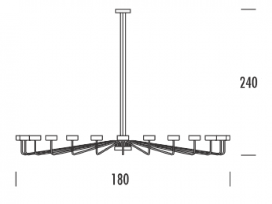 MISTRAL Ż24 UP Żyrandol wymiary