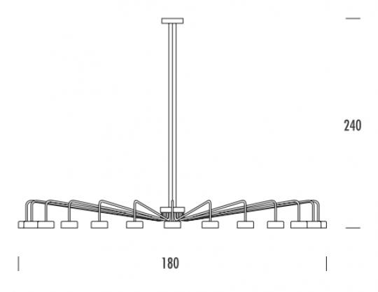 MISTRAL Ż24 DOWN Żyrandol wymiary