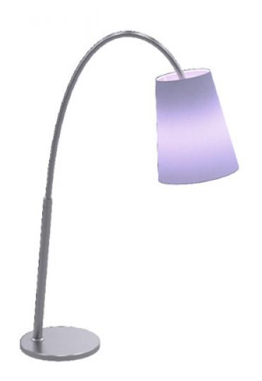 MODENA LG Lampa Gabinetowa fioletowy abażur