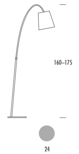 MODENA LP Lampa Podłogowa wymiary