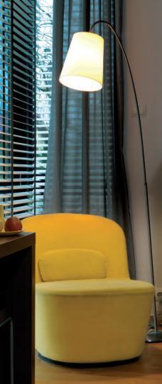 MODENA LP Lampa Podłogowa żółty abażur