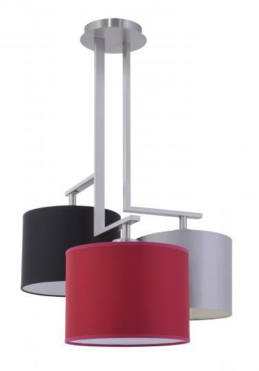 NINA Ż3-D Żyrandol inox, nowoczesna lampa do salonu, hotelu, ElmarCo POLSKI producent oświetlenia elmarco_pl