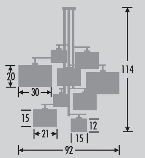 NINA Ż9 Żyrandol wymiary