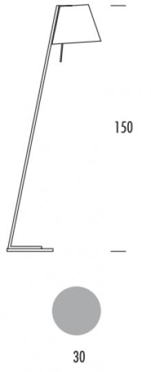 PADWA LP Lampa Podłogowa wymiary