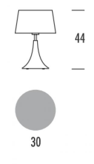 SAXO LG Lampa Gabinetowa wymiary