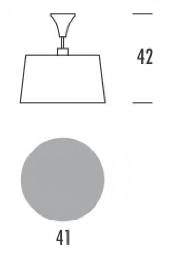SAXO LS Lampa Sufitowa wymiary