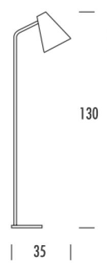 SCANDIC S LP Lampa Podłogowa wymiary