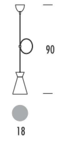 SCANDIC S LS Lampa Sufitowa wymiary