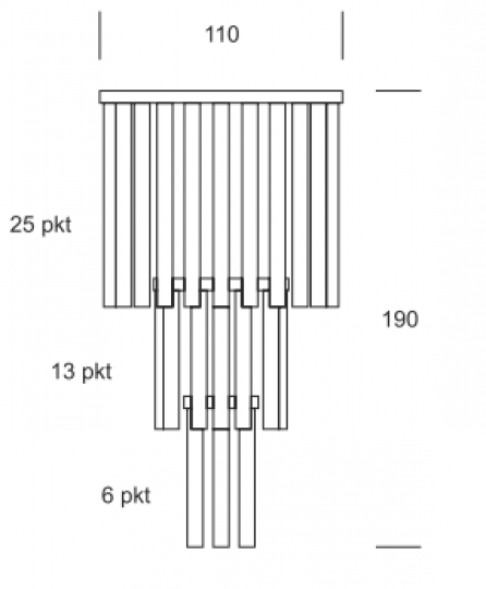 SISIL Ż44 Żyrandol wymiary