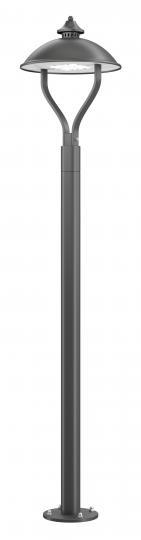 WARMIA LO K 1,6m Lampa Ogrodowa szary