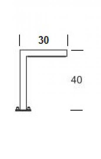 WAY PROSTY LO 0,4m Lampa Ogrodowa wymiary